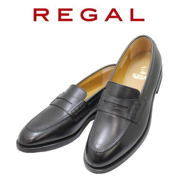 画像1: REGAL(リーガル)JE02 黒(ブラック) AH  3E ローファー  メンズシューズ ビジネスシューズ メンズローファー 本革(レザー)日本製 (1)
