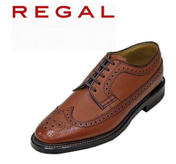 画像1: REGAL(リーガル) 2235N 茶色(ブラウン)ウィングチップ革靴 メンズシューズ ビジネスシューズ 本革(レザー) (1)