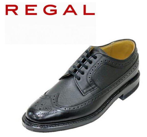 画像1: REGAL(リーガル) 2235N 黒色(ブラック)ウィングチップ 革靴 メンズシューズ ビジネスシューズ 本革(レザー) (1)