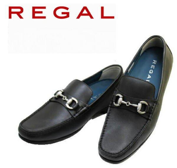 画像1: REGAL(リーガル) 57HR 黒色(ブラック)スリッポンシューズ 革靴  メンズシューズ ビジネスシューズ 本革(レザー) (1)